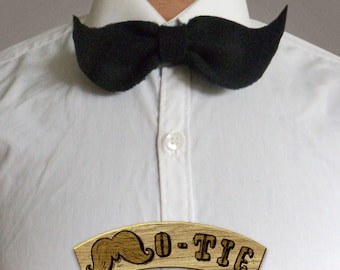 The Mo Tie 008 The Traditional Fashion Accessory Nerdy Bow Tie Movember Moustache Mustache Quirky Necktie Wedding Novelty Men Women Shirt