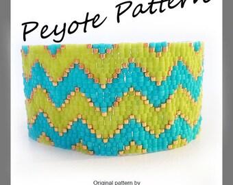 Chevron Peyote Pattern Bracelet - For Personal Use Only PDF Tutorial , chevron tutorial bracelet , delica beads bracelet tutorial
