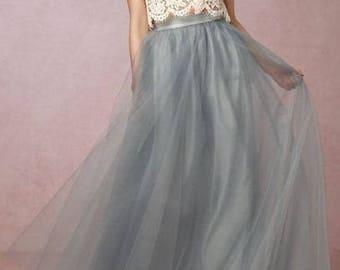 DEBORAH Bridal Tulle  Skirt Ivory Wedding Skirt  Bridal Separates  Wedding Separates bridesmaid tulle skirt   Plus Size Available