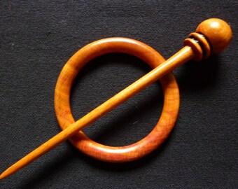 Shawl pin in Plum #1