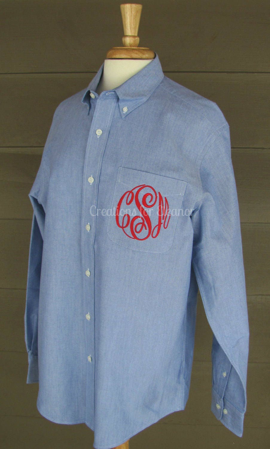 Oversized Mens Monogrammed Shirts For Brides Bridesmaids