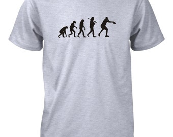 Men's Evolution of Man Ultimate Frisbee T-Shirt