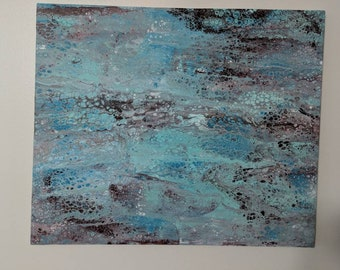 """20"""" x 24"""" Original Abstract Fluid Painting, Acrylic on stretched canvas"""