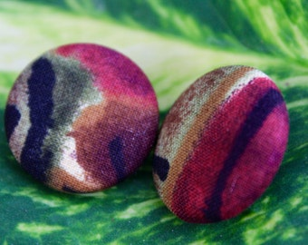 EarthTone button earrings