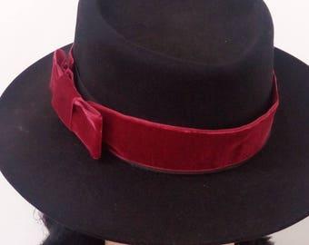 Canotier Lady felt-hat-hat party