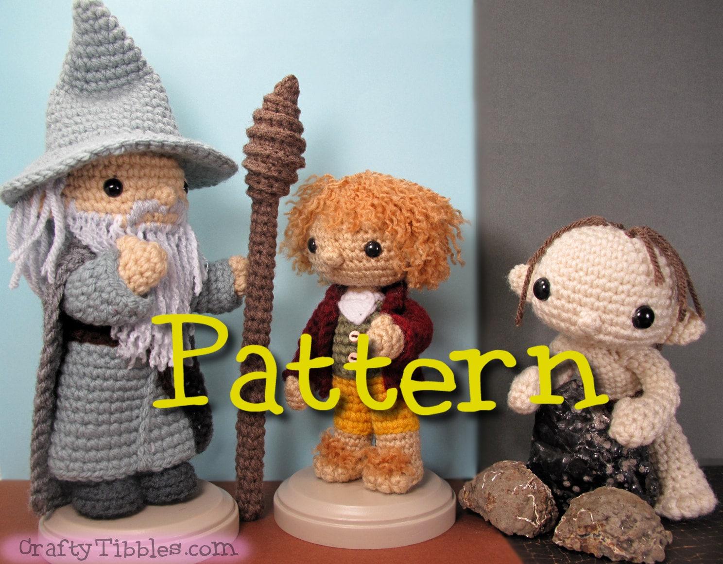 Crochet Amigurumi Patterns : Bilbo and gollum crochet amigurumi pattern