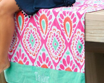 Personalized Beach Towel Light Weight Design by rosieposiedesigns