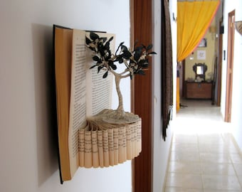 Book Paper Art Sculpture - Tree of Life