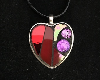 Red Heart Mosaic Pendant