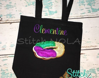 King Cake Bead Bag