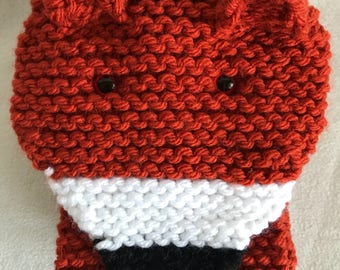 Knitted fox scarf