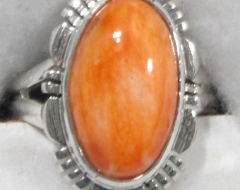 ORANGE SPINY OYSTER Ring   # 1179-bp