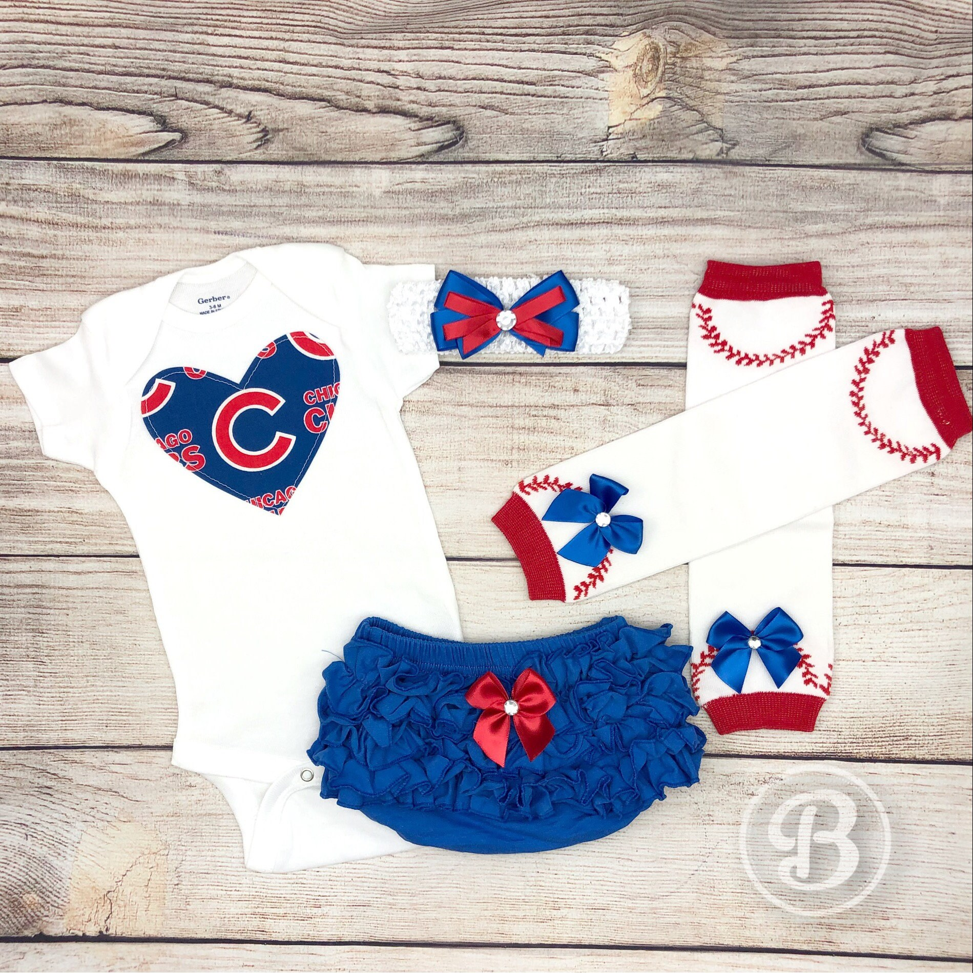 Chicago Cubs Baby Girl Game Day Outfit Cubs Baseball Baby