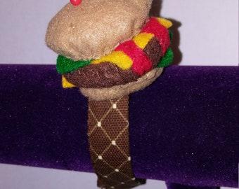 Burger Lovers Wrist Pin Cushion