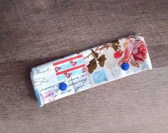 "OOAK Paris Roses Floral DPN Cozy for 6-7"" Knitting Needles"