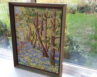 Vintage Woodland Tapestry. Bluebells