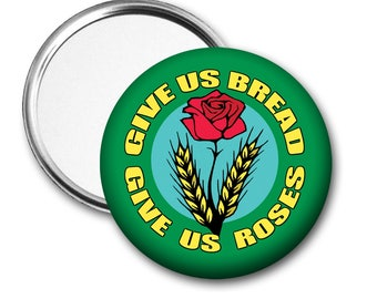 Bread and Roses Pocket Mirror