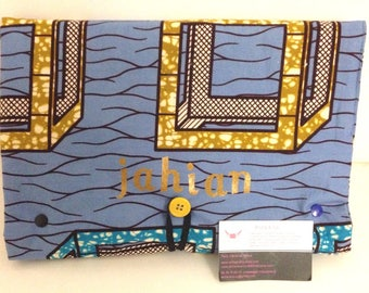 """Changing mat Nomad blue yellow wax with a pad and yellow pockets """"Jahian"""""""