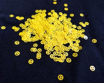 glitter shapes-bright yellow happy faces/smiley faces/emojis STOP! ORDER this HERE https://etsy.me/2Ju5VMu