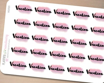 Watercolor Vacation Planner Stickers Perfect for Erin Condren, Kikki K, Filofax and all other Planners