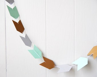 Arrow Garland in Mint Silver and Gold