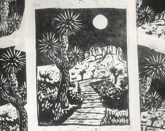 DESERT NIGHT print, Artists Edition of 8