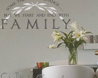 Some things may change but we start and end with FAMILY-- this moving quote is perfect for the holidays!