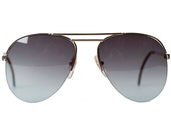 Apollo Optik Vintage Aviator Mint Sunglasses 16661 Gold Metal Gradient Gray