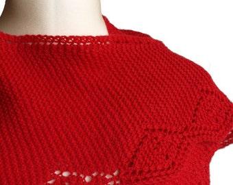 Strawberry Shawl - PDF Knitting Pattern