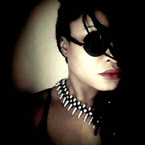 Black Round Steampunk Sunglasses