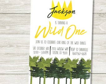 Where the Wild Things Are Birthday Printable Invitation