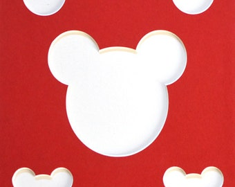 """8""""x10"""" Mouse Head Picture Collage Mat"""