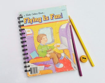 Flying is Fun, Recycled Little Golden Book Journal