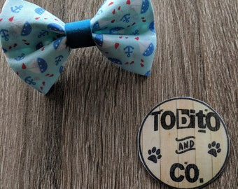 Boats & anchors// dog bow tie