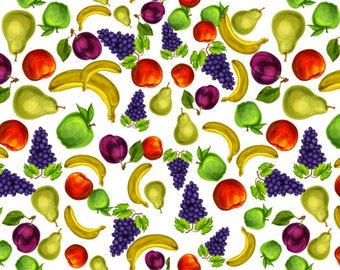 ORIGINAL TABLE SET, plastic, WASHABLE and durable - Decoration. Fruity table - classic.