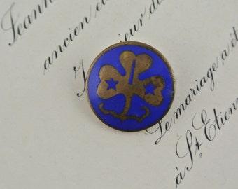 Vintage Girl Guides Australia Metal Badge |  Blue Enamel Pin Melbourne