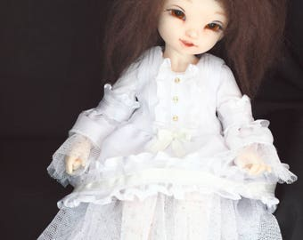 White dress for LittleFee 1/6 YoSD bjd doll