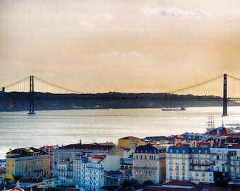 25 de Abril Bridge, Lisbon, Portugal, Europe, Travel, Photography, Fine Art Print, Home Decor