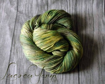 "Hand-dyed sock yarn 4 x 100 g ""Meadow"""