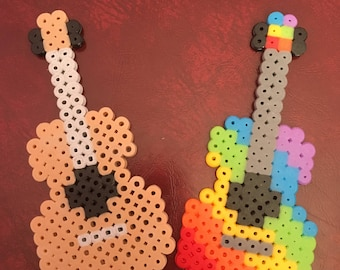 Guitar Hama Bead Art