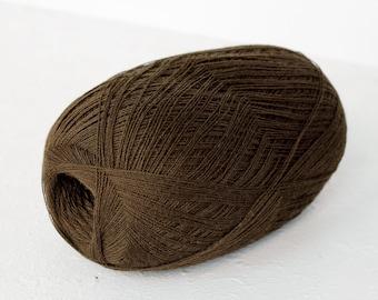 Merino wool yarn - haapsalu shawl yarn - cobweb brown yarn