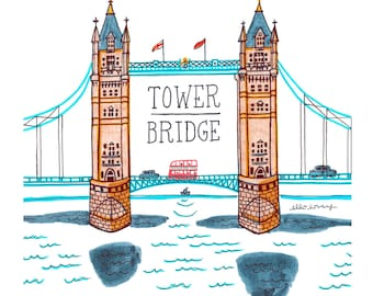 Tower Bridge - Art Print 5x7, 8x10, 11x14