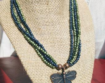 Beaded Butterfly Jewelry Set