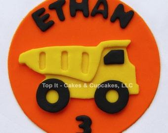 Fondant Cake Topper - Dump Truck