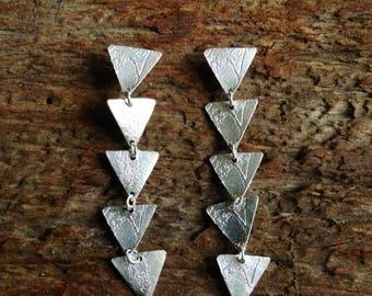 """Silver """"Triangle Drop Earrings"""""""