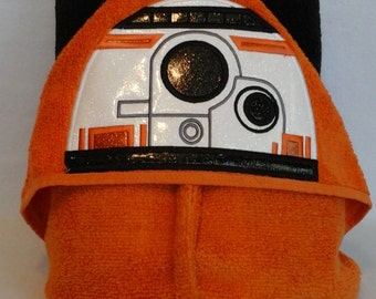 Robot B Star Wars Robot Hooded Towel