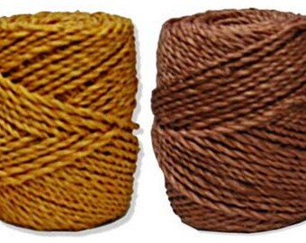 1 Elegant Abaca (Hemp) Twine Spool - 150 Feet! In 2 Colors - Manila Hemp (Sunflower or Cinnamon)     (DR-020)