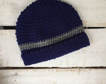 Crochet Ribbed Beanie Hat
