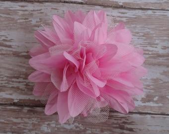 Pink Flower Hair Clip Baby Toddler Child