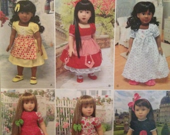 Simplicity 1486 pattern for 18 inch or American girl doll, new and uncut